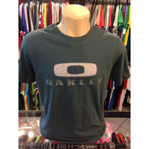 Camiseta Oakley Azul Petroleo Tam P #1984 Polo Camisa Regata