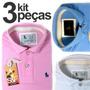 Kit 3 Camisas Polos Masculinas Qualidade Importada Originais