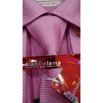 Camisa Social Importada Kit ,abotoadura,gravata,prendedor