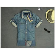 Camisa Jeans Masculina Scotch & Soda Pronta Entrega
