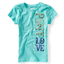 Aeropostale T-shirt Das Meninas Ps Psny Amor Graphic Vertica