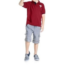 Camisa Polo Infantil Masculina Bordado Nautical - Angerô...