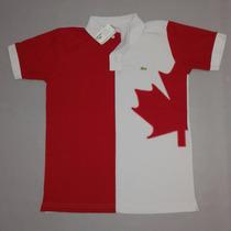 Camisa Polo Lacoste Edição País Canadá Frete Gratis