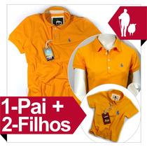 Pais Iguais Ao Filhos + Mãe Kit Completo, Camisa Polo
