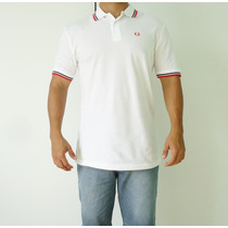 Camisa Polo Fred Perry Twin Tipped Original - Branco