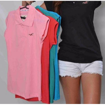 Camisas Polo Luxo Feminina Hollister Cores Variadas