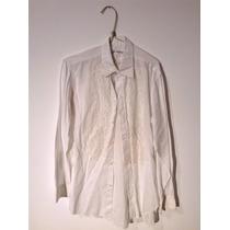 Camisa Estilo Bata Com Renda - Usada Com Manchas