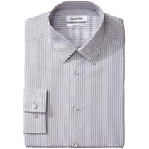 Camisa Social Calvin Klein Listrada Regular Fit - Tamanho 15