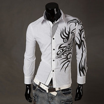 Camisa Social Slim Fit Pronta Entrega Tribal Exclusiva Luxo