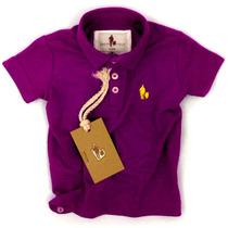Camisa Polo Infantil, Qualidade Importada Original Púrpura