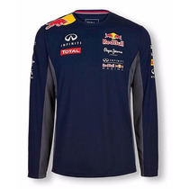 Camiseta De Frio Manga Longa Blusa Racer Infinit F1 Red Bul