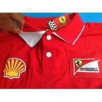 Kit 3 Camisas Polo Ferrari Masculino Kit 3
