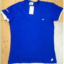 Kit 10 Camisetas Lakoste Gola V Feminina Pb