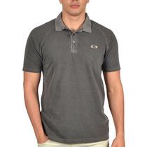 Camiseta Polo Oakley Recent Cinza