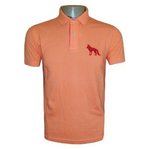 Camisa Acostamento Gola Polo Camiseta Salmao