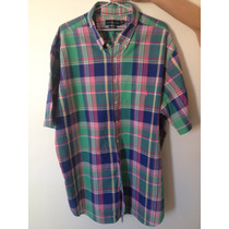 Camisa Social Polo Ralph Lauren Custom Fit 3 Xlt