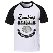 Camiseta Raglan Manga The Walking Dead - Zombie Brain