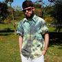 Camisa De Botão Tie Dye - Tamanho M - Manga Curta - Ácida