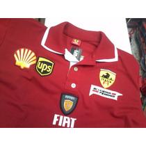 Camisa Masculina Ferrari Gola Dupla + Frete Grátis