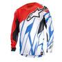 Camisa Alpinestars Techstar 15 Vent Verm/bco/azul Gg(xl) Rs1