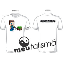 Camiseta Infantil Minecraft Creeper + Adesivo Grátis
