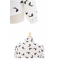 Camisa Feminina Estampa De Pássaros