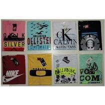 Kit 10 Camisetas Malha, Hollister, Abercrombie, Gap, Armani