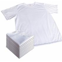 Lote 25 Camisetas Lisa 100% Poliester Camisa Para Sublimação