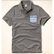 Camisa Polo Hollister Cinza - Tamanho M