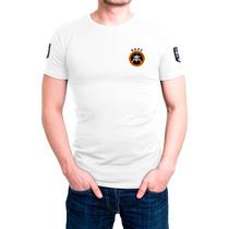 Camisa Camiseta Branca Bordada - Bope Operações Especiais