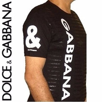Camisa Masculina Dolce & Gabbana Original T-shirt D&g Size M