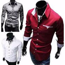 Camisa Slim Fit Luxo + De 140 Modelos Novos, Pronta Entrega