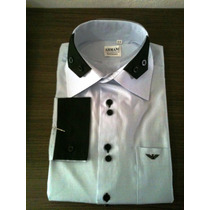 Camisa Armani Social Punho Duplo