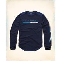 Camiseta Mangalonga Hollister Azul Marinho M Novo Original