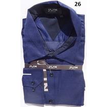 Camisa Social Masculina Tamanho 6 - Gg Manga Longa Importada