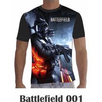 Camisa Camiseta Games Personalizada Batllefield Mod. 1 A 6