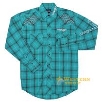 Camisa Masculina Importada Xadrez Manga Longa - Wrangler