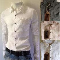 Camisa Social Broken Linho- Osklen Ellus Sergio K Zara Ck