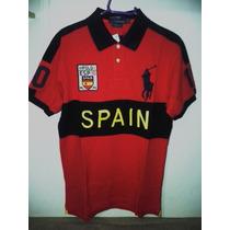 Camisa Polo Ralph Lauren Masculina Vermelha Tm M Importada