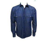 Camisa Blusa Jeans Masculina Manga Longa