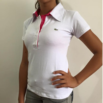 Camiseta Polo Feminina Lacoste, Elastano Super Confortavel