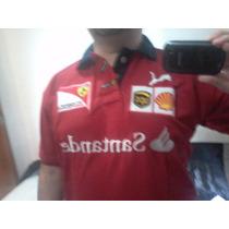 Camisa Masculina Ferrari Gola Preta Modelo Red - Cod 097