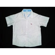 Camisa Social Infantil Listrada_spice_tam 3_usada 1 Vez