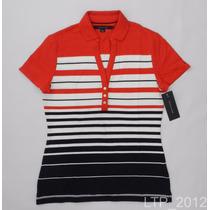 Camisa Gola Polo Feminina Tommy Hilfiger - Tamanho P