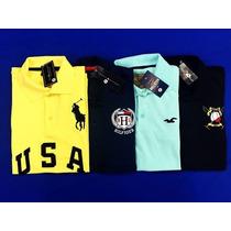 Kit 5 Camisas Polo Hollister Ralph Lauren Masculinas Baratas