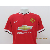 Camisa Do Manchester United 2014/2015 Manga Curta Tamanho M