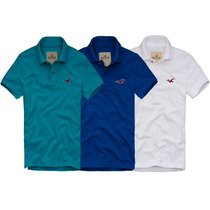 Kit C/ 3 Camisas (camiseta) Polo Masculina Hollister