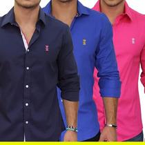 Camisa Polo Social Sergio K Várias Cores Original Importado