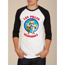 Camiseta Raglan Manga Longa Los Pollos Hermanos Breaking Bad