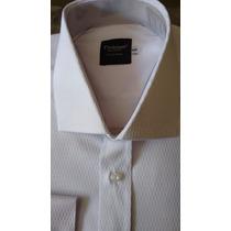 Camisa Social Alto Estilo Masculina / Branca / Manga Longa